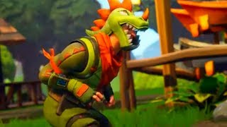 Fortnite - New RAWR Emote Dance Music + Dinosaur Skin