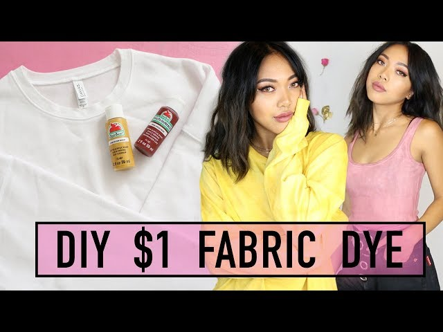 HOW TO DYE CLOTHES USING $1 ACRYLIC PAINT! | HOW TO | Nava Rose