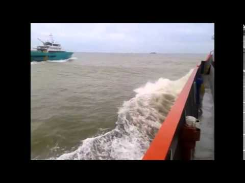 Offshore Trip to F23 Rough Sea