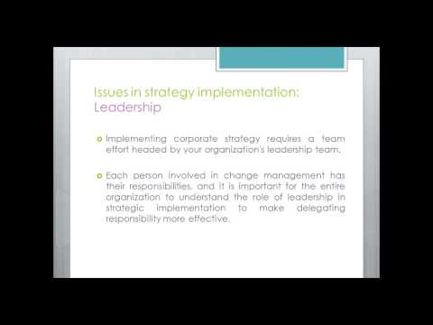 The Role of Leadership and Culture in Implementing Strategy