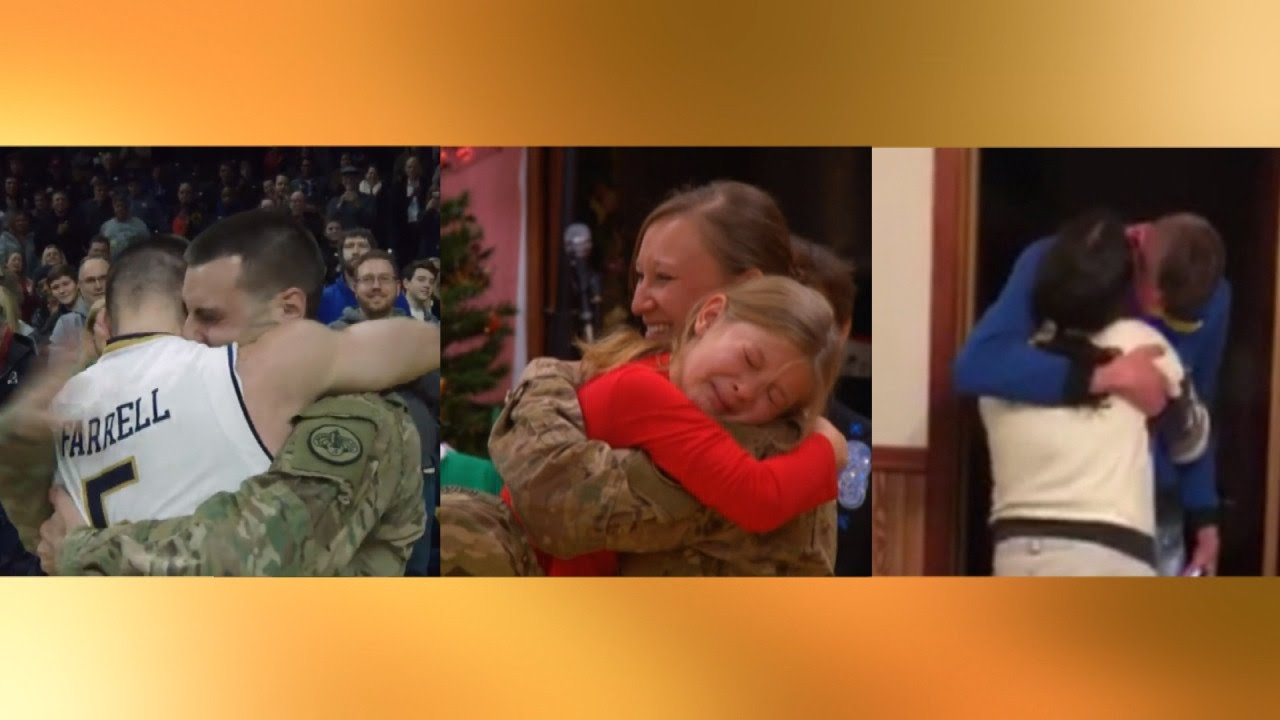 Download Watch These Military Heroes Surprise Their Families By Coming Home For Christmas