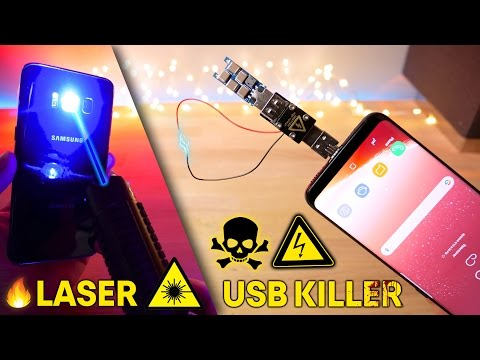 USB Killer 3.0 & Burning Laser vs Samsung Galaxy S8! Instant Death?