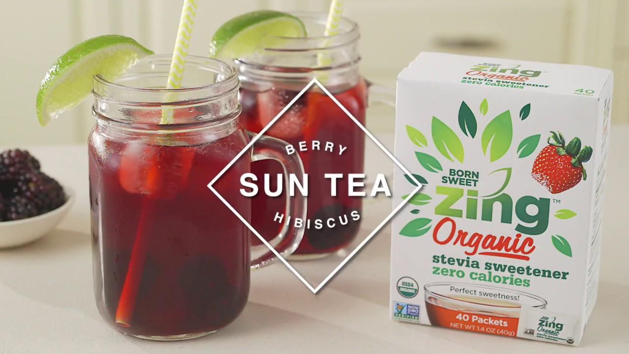 Berry Hibiscus Sun Tea Born Sweet Zing Organic Stevia Sweetener