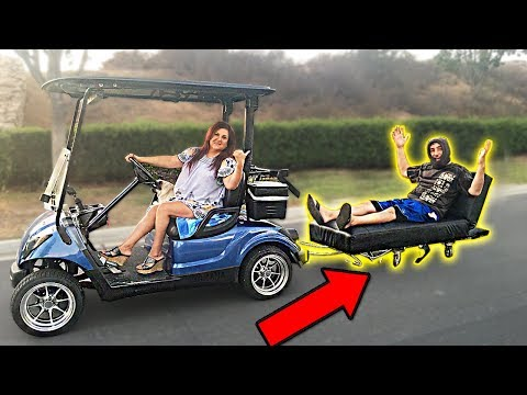 WE TURNED THE GOLF CART INTO THIS...
