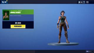 JUNGLE SCOUT - UNCOMMON   OUTFIT (Fortnite Skin)