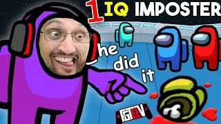 AMONG US but with a 1 IQ Imposter, ME! (FGTeeV Mad Sus 10x Multiplayer)