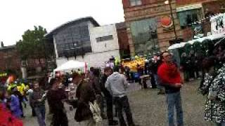 """""""Middle Class Hero"""" performed by Steve Wallis (2009 May Day demonstration in Manchester)"""
