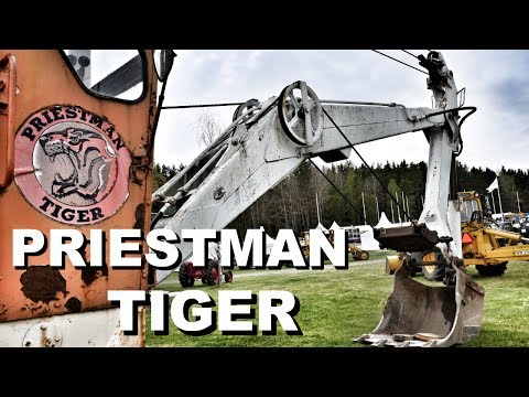 Priestman Tiger  vintage cable excavator at Maskinexpo 2017