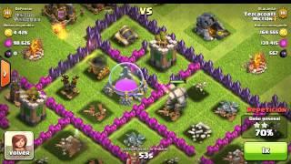 Ataque MEGA sin brujas y sin reyna Clash Of Clans