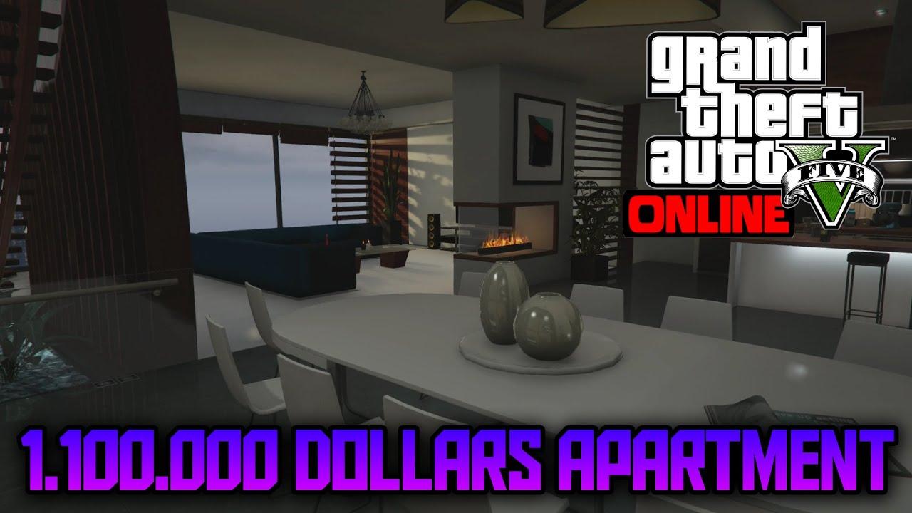 GTA 5 ONLINE - BUYING A 1 MILLION DOLLARS APARTMENT / PROPERTY TOUR ...