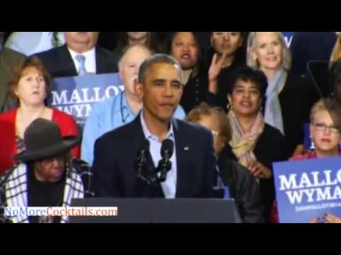 Immigration Activists Heckle Obama At Connecticut Campaign Rally For Dannel Malloy