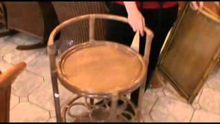 Средиземноморский стиль, ротанговая мебель