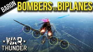 War Thunder Gameplay - Bombers vs Biplanes - B-17 vs Chaikas