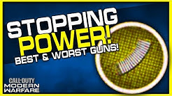 Best & Worst Guns to use Stopping Power on in Modern Warfare!