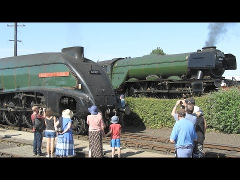 Flying Scotsman and Union Of South Africa at The Didcot railway centre
