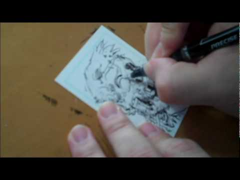 Tony Moore: Comics For Cures Sketch Cards