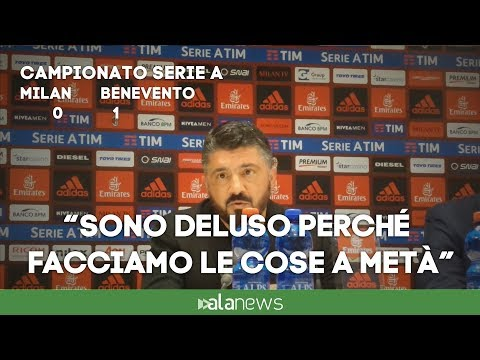 """Gattuso: """"Interpretazione della gara imbarazzante. La colpa è mia"""""""