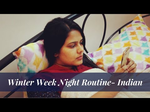 Night Routine - Indian   My Typical Winter Week Night Routine   Indian Dinner Routine by Saloni