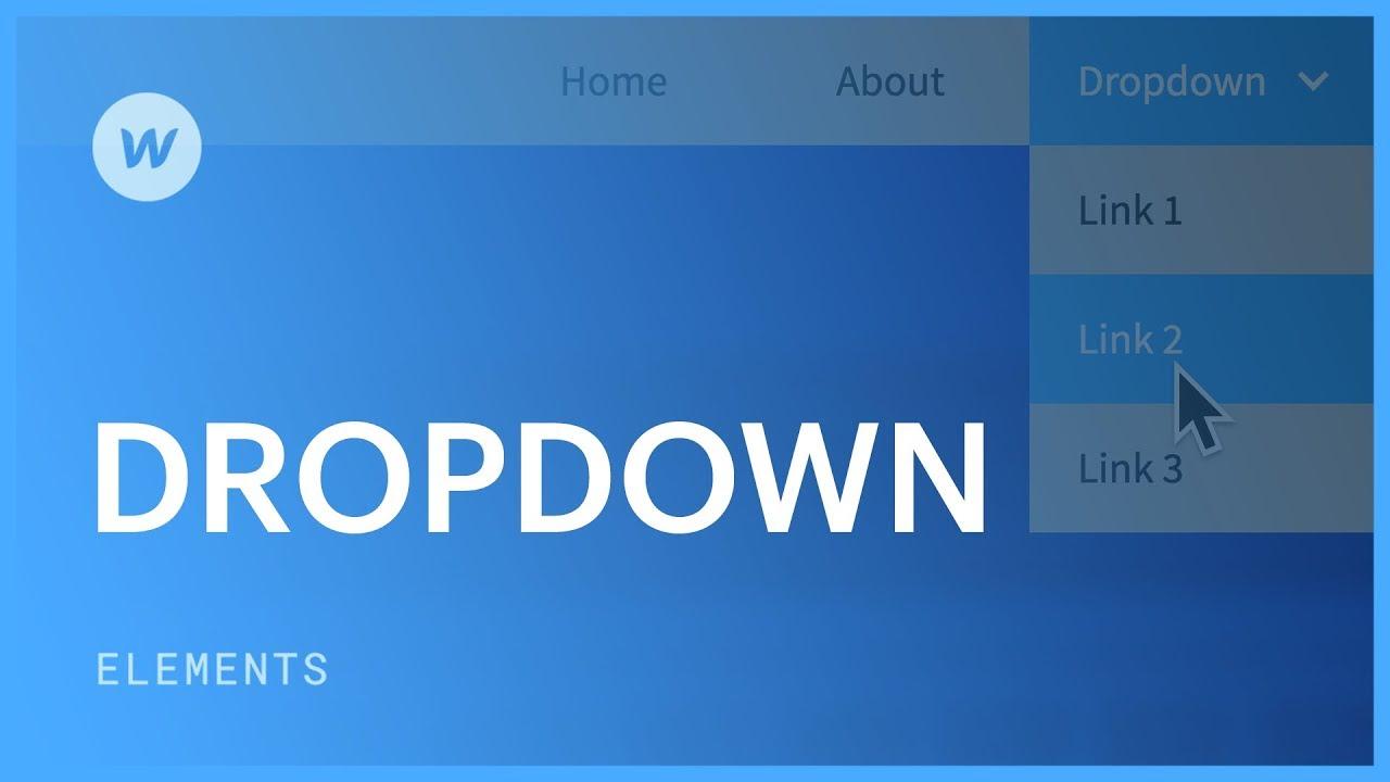Dropdown navigation menu - Web design tutorial