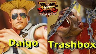 Daigo ( Guile ) vs Trashbox ( #1 ranked Birdie ). Don't forget to s...