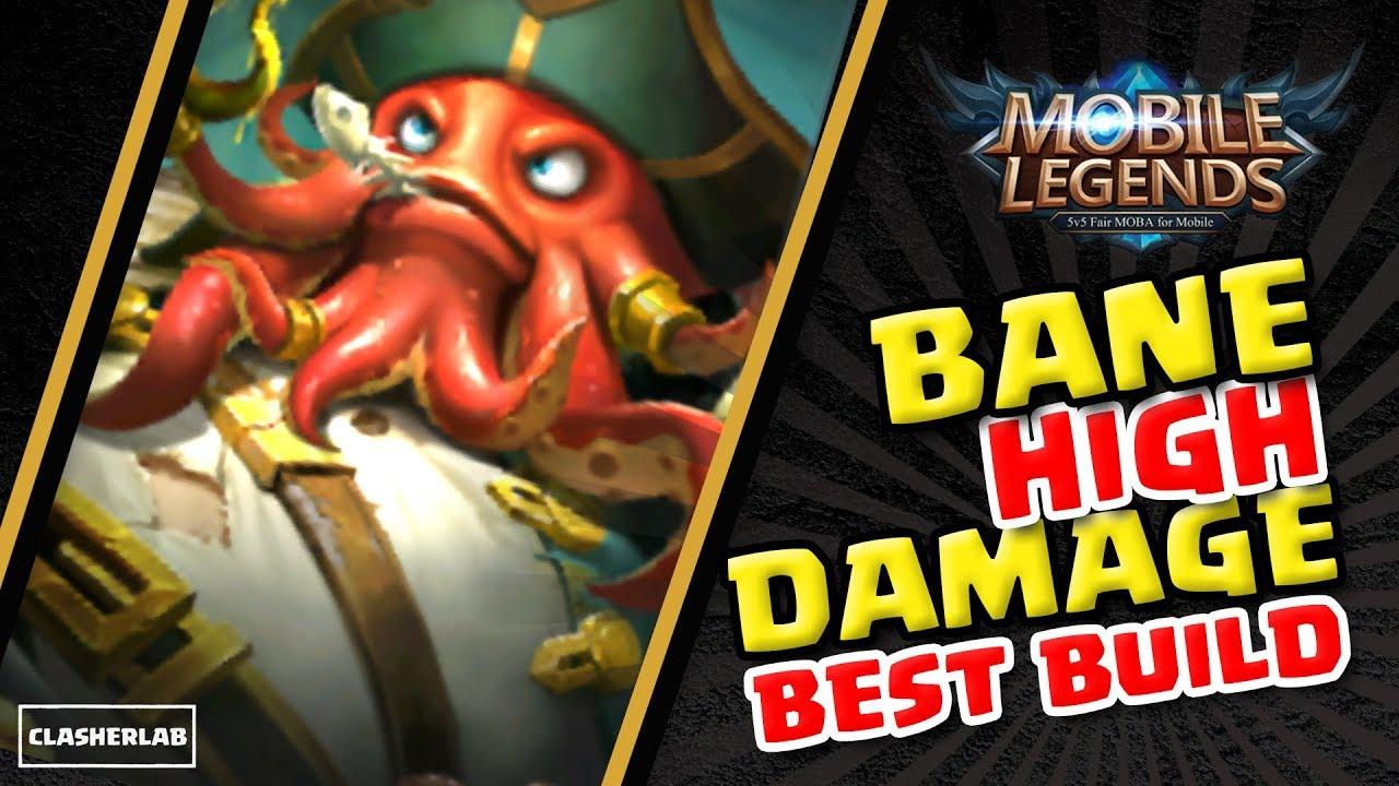 Bane Best Build 2018 High Damage Bane Build Mobile Legends