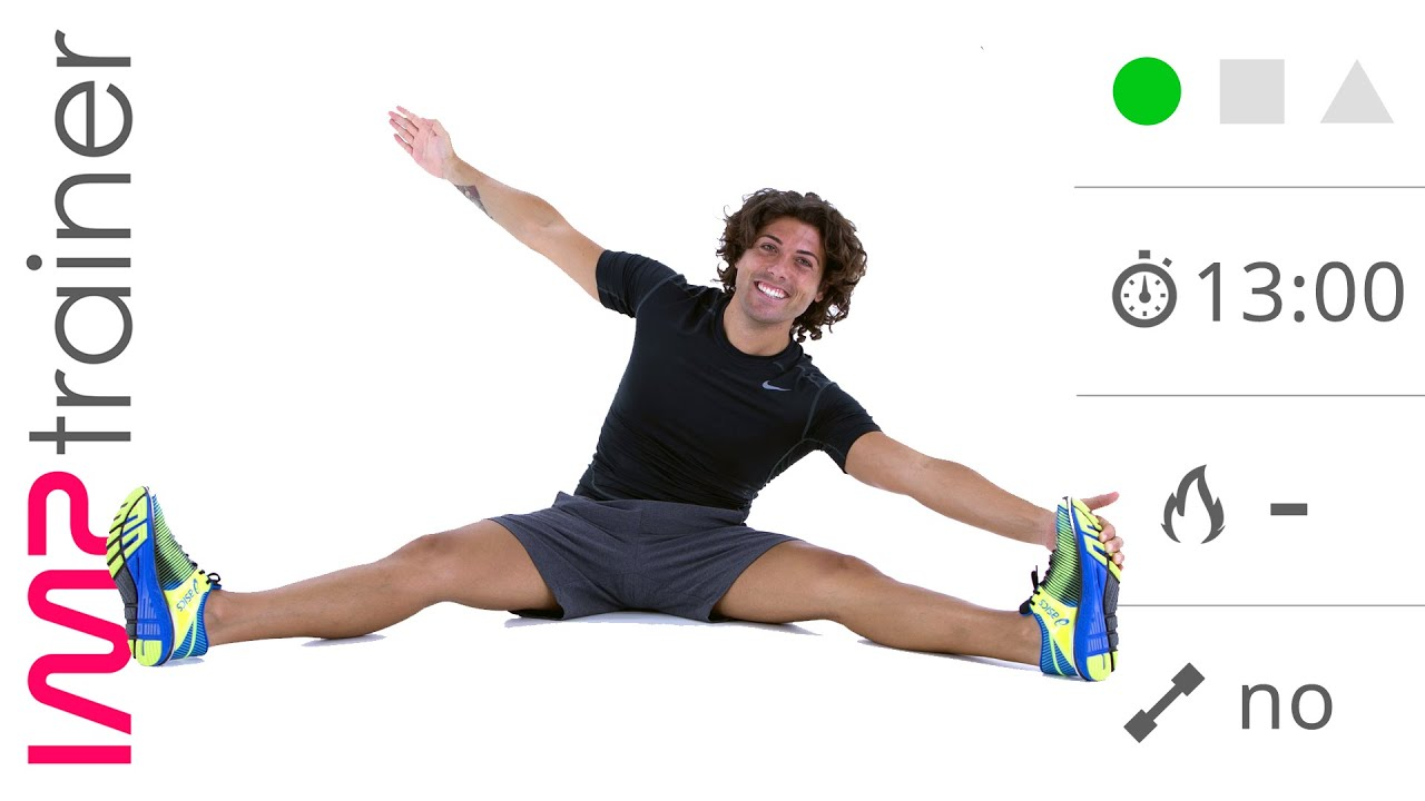Esercizi di Stretching Per Schiena Gambe e Glutei Defaticamento o Seduta Singola