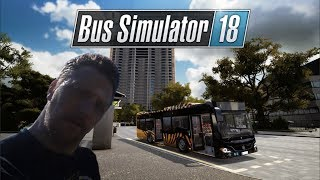 Bus Simulator 18 - Bus accident, woman hit by bus.  (Ep4)