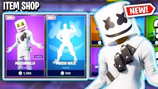 MARSHMELLO SKIN IN FORTNITE! Fortnite Item Shop! Daily & Featured Items! (Jan 31st/Feb 1st)