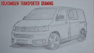 Kolay ve Hızlı Volkswagen Transporter Çizimi