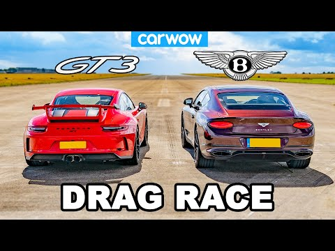 Porsche 911 GT3 vs Bentley Continental GT – DRAG RACE!