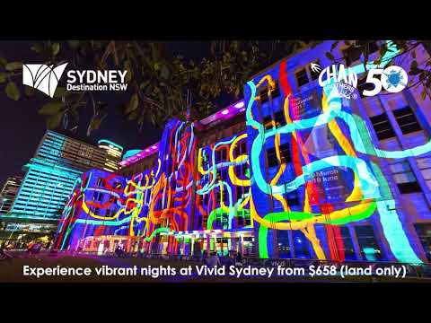 Experience vibrant nights at Vivid Sydney