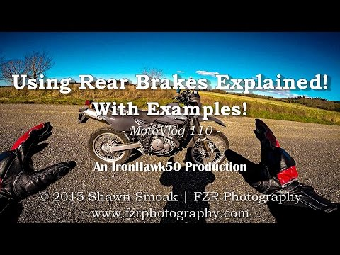 Using Rear Brakes Explained! - With Examples!   MotoVlog 110