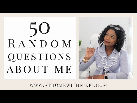 50 RANDOM QUESTIONS ABOUT ME | PLUS BLOOPERS