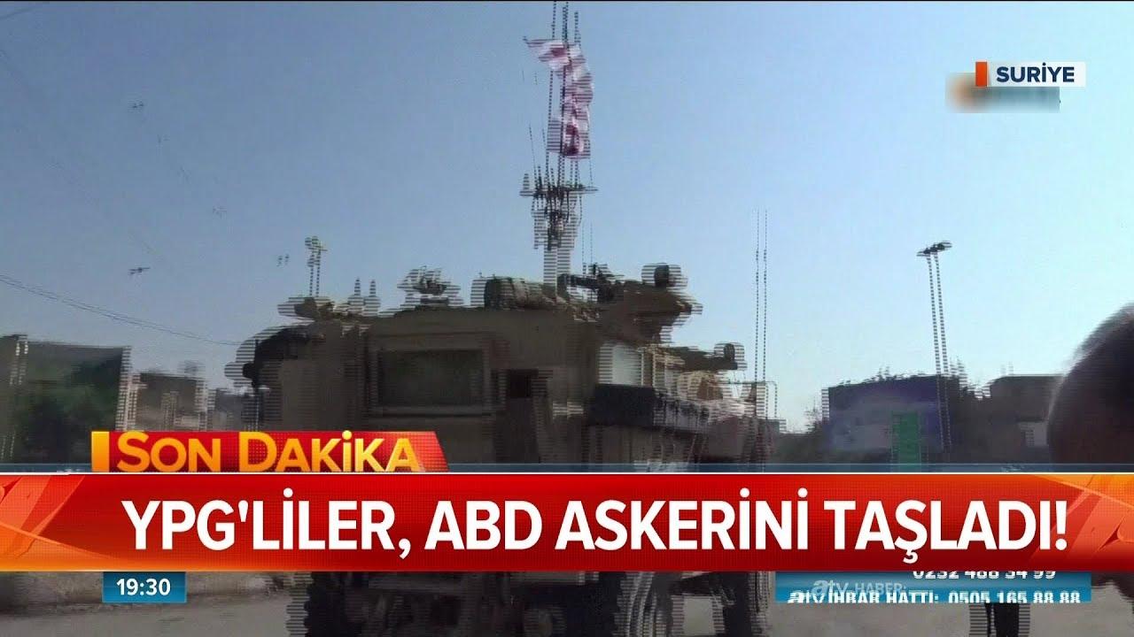YPG'liler, ABD askerini taşladı! - Atv Haber 21 Ekim 2019