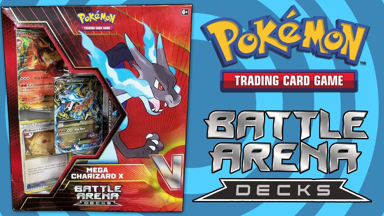 pokemon mega charizard x battle arena deck opening and review youtube