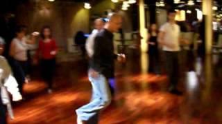 Salsa - Eddis Shines - Suzy Q Cross Slide Swivel Side Step with hand styling