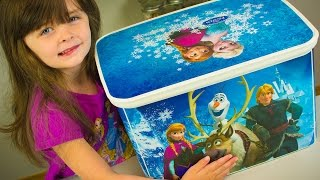 HUGE Frozen Surprise Bucket Filled with Disney Princess Toys and Surprise Toys Kinder Playtime
