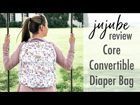new-ju-ju-be-core-convertible-bundle-diaper-bag-|-review,-packing-&-on-the-body!