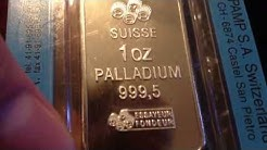 Palladium 1 Oz Coin, Bar and Rounds