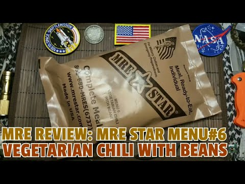 ✔CIVIL MRE REVIEW: MRE Star Menu#6: Vegetarian Chilli with Beans ☆ German Review