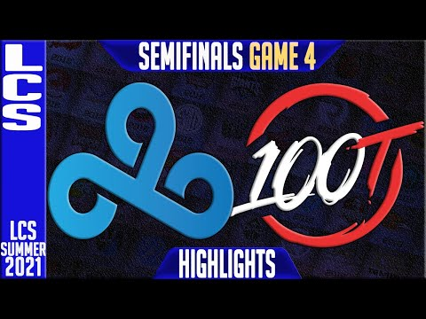 C9 vs 100 Thieves Highlights Game 4 | LCS Summer Playoffs Semi finals | Cloud9 vs 100 Thieves G4