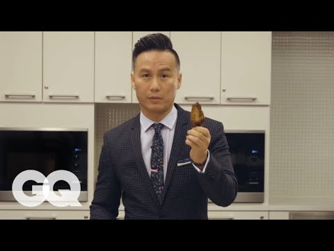 BD Wong Teaches You How to Eat a Chicken Wing  GQ