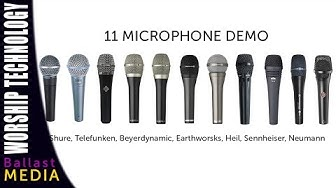 11 Microphone Demo - Live male vocals