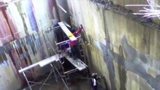 видео Инъектирование трещин в бетоне (каменной кладке)