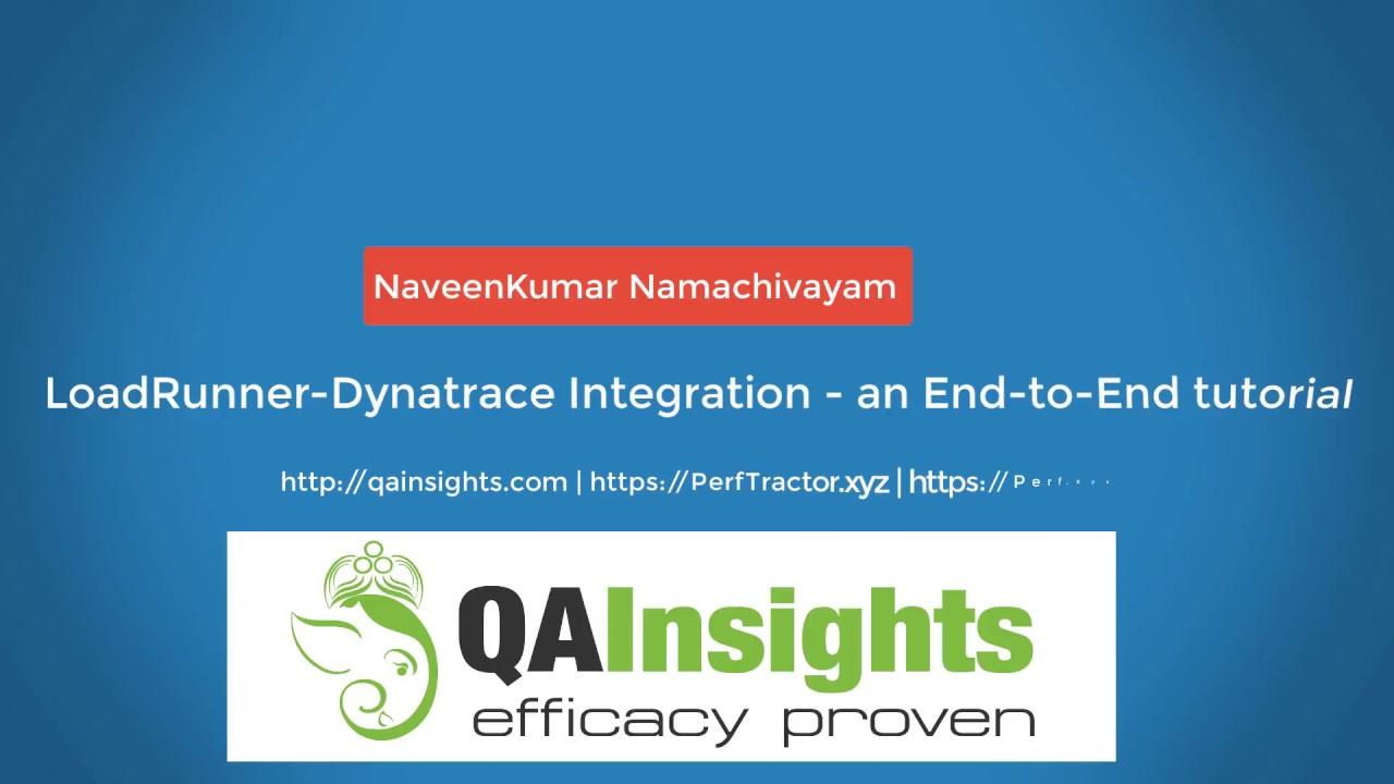 LoadRunner Dynatrace Integration - an End to End tutorial