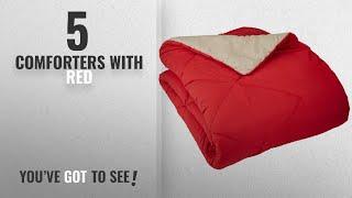 Top 10 ComfortersWith Red [2018]: AmazonBasics Reversible Microfiber Comforter - Twin/Twin