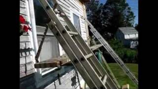 Dad's adjustable scaffolding and ladder hangers