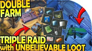DOUBLE FARM RUN + TRIPLE RAID (UNBELIEVABLE LOOT!!) - Last Day On Earth Survival Update 1.9.3