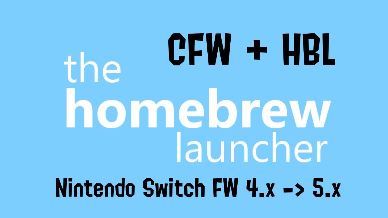 How to install Hekate CFW + Homebrew launcher (Nintendo Switch 4 x - 5 x)