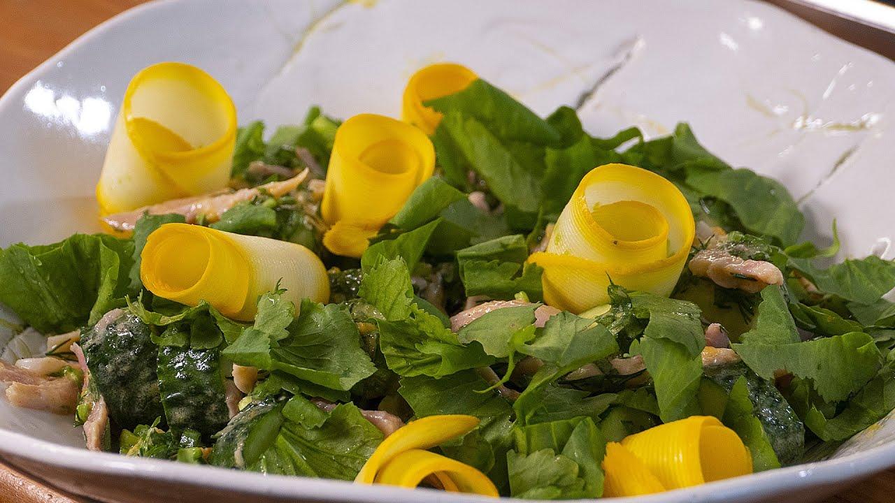 Салат из огурцов и курицы
